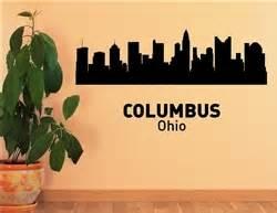 columbus ohio city skyline vinyl wall art decal sticker