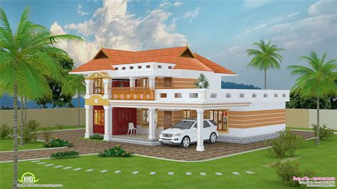 feet beautiful villa design kerala home floor plans