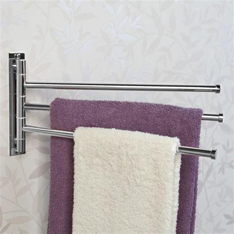 solid brass triple swing arm towel bar bathroom