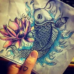 Koi fish & lotus flower | Art | Pinterest | Lotus flowers ...