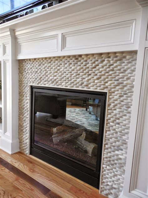 fireplace pebbles 2014 parade of homes in cny pebble fireplace