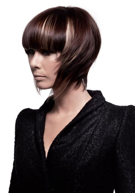 short hairstyle   sides swept