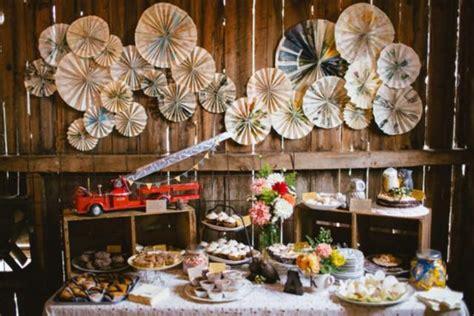 reality check rustic chic dessert table weddbook
