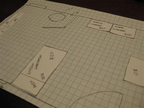 create   scale sketch  graph paper   space