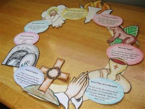 holy week craft ideas holy week wreath with printables preschool items juxtapost 4685