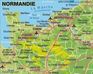 karte von normandie frankreich karte auf welt atlasde