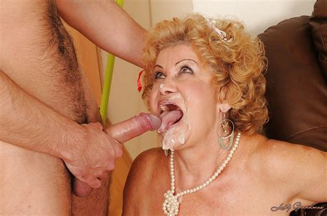 horny granny fucking a big cock and getting cum all over her face at granny sex pics