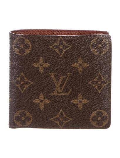 louis vuitton brown lv marco monogram canvas men tan card slots wallet tradesy