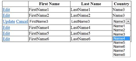 drop list inside inside templates asp net how to bind dropdown list in a gridview from