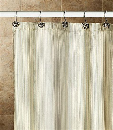 Dillards Curtains And Drapes by Noble Excellence Metallic Stripe Shower Curtain Dillards