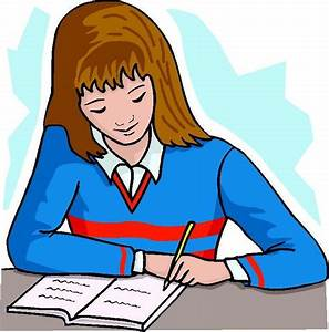 Girl writing clipart - Clipartix