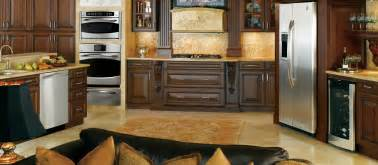 range ideas kitchen opulent open kitchen decors with brown finished mahogany cabinets as well as brown granite floor