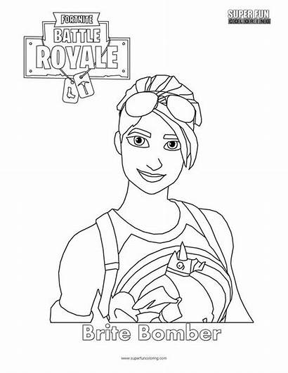 Fortnite Coloring Printable Pages Bomber Drawing Brite