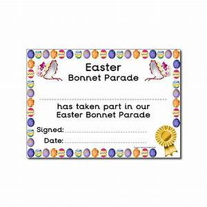 certificates easter bonnet parade certificates With easter bonnet printable templates