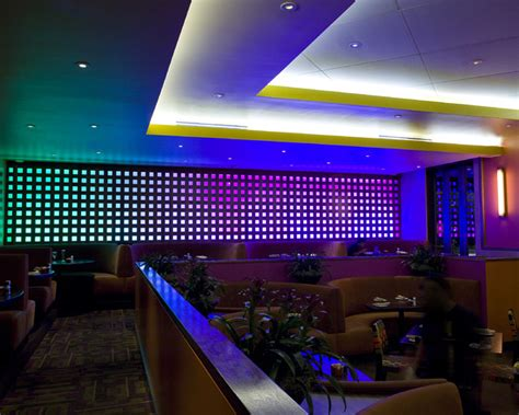 Led Lights In Dining Room by Restaurant Led Lighting Eclectic Dining Room Houston