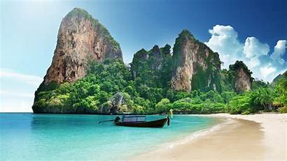 Wallpapers 1440p Thai Resolution Backgrounds Boat Nature