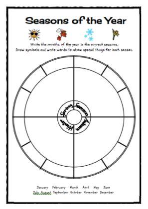 seasons of the year freebie science for kindergarten