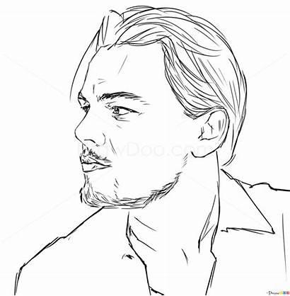 Dicaprio Leonardo Drawing Draw Celebrities Drawings Easy