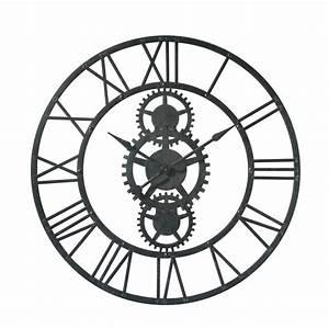 Horloge En Metal : horloge en m tal noire d 100 cm temps modernes maisons du monde ~ Teatrodelosmanantiales.com Idées de Décoration