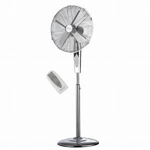 Ventilateur Sur Pied Carrefour : ventilateur sur pied 130w avec telecommande 3 niveaux de ~ Dailycaller-alerts.com Idées de Décoration