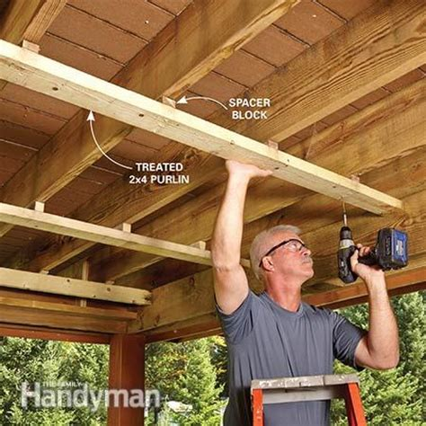 gutter outlet deck roof the family handyman