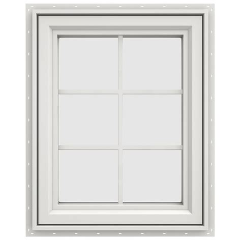 jeld wen        series  hand casement vinyl window  grids white