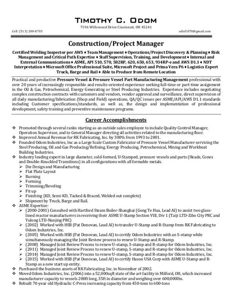 resume tips construction project managers tco construction project manager resume rev 01 24 16