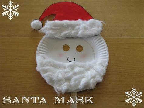 paper plate christmas masks learning  kids