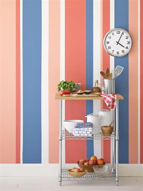 Streifen Auf Wand Malen by Painting Multicolored Stripes On A Wall Hgtv