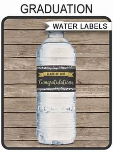 graduation party water bottle labels party decorations With custom water bottle labels vistaprint