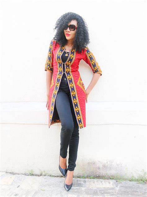 Long Ankara Jacket Outfit | Sleeved Ankara Jacket Style