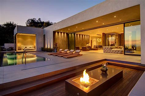 house with a stylish interior in l a and a breathtaking view the city freshome