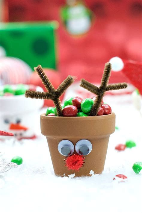 christmas kids craft holiday character candy pots