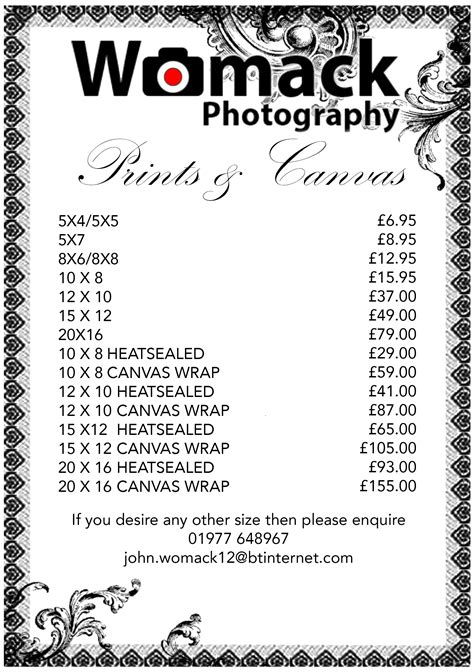 Albums & Prices - Womack Photography based in Yorkshire