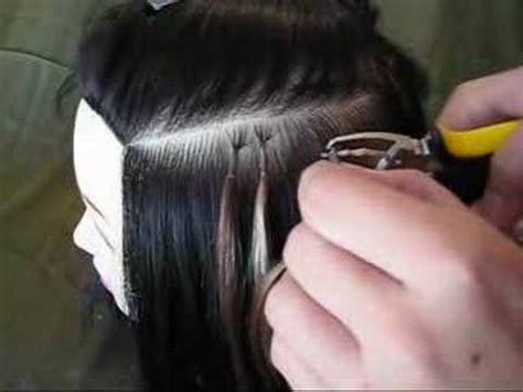 keratin tipped hair extension removal youtube