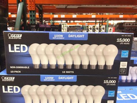 feit electric led 100w replacement daylight 10 pack