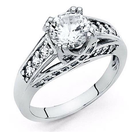 2 ct cut engagement ring bridal wedding solid 14k white gold ebay