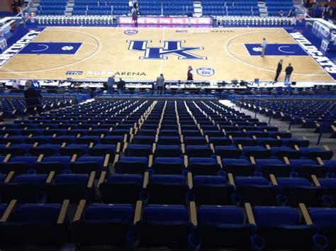 rupp arena downsizing adding  chair backs club
