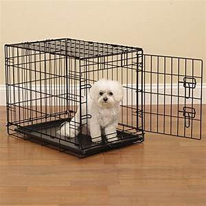 Proselect easy dog crates for dogs and pets black small for Small medium dog crate