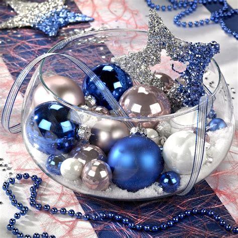 noel et blanc exemple d 233 coration de table de no 235 l blanc et bleu silver decor and blue