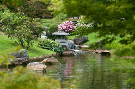 Japanese Garden Landscape Stock Image. Image Of Small
