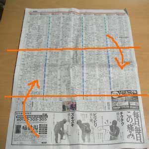 あさ イチ 新聞紙 ゴミ箱 作り方