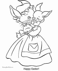 Happy Easter Coloring Pages - 004 - AZ Coloring Pages