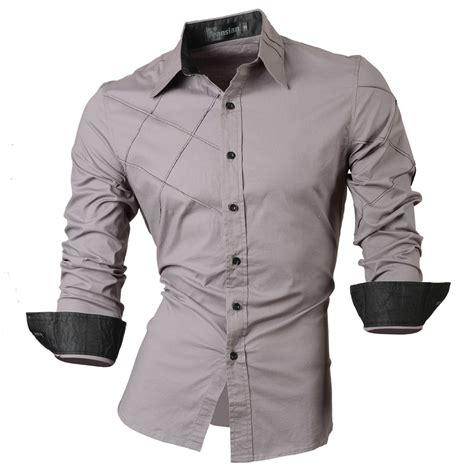 casual shirts mens clothing social slim fit shirt