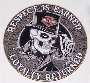Respect Is Earned Loyalty Returned Biker Skull Full Color