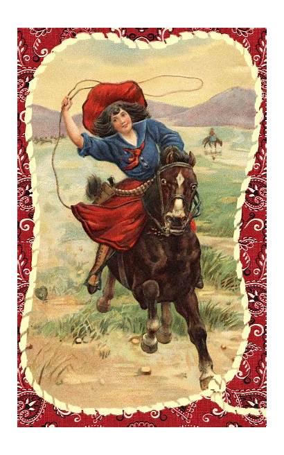 Valentine Cowgirl Cowboy Happy Cowgirls Western Cards