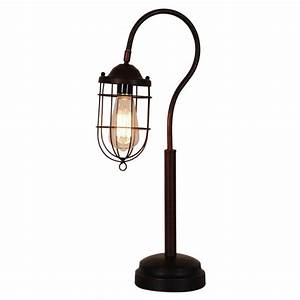 normande lighting 24 in reddish bronze vintage table lamp With 3 way table lamp home depot