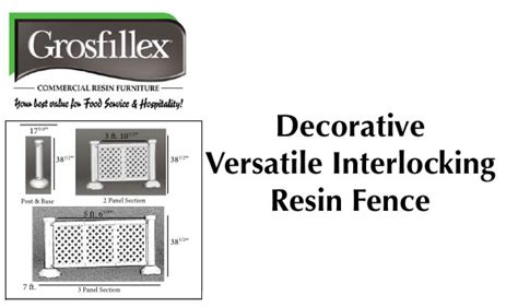 grosfillex versatile resin patio fence inexpensive