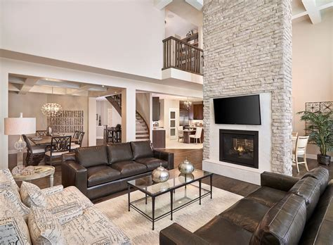 Brilliant Brown Leather Sofa Decorating Ideas Family Room