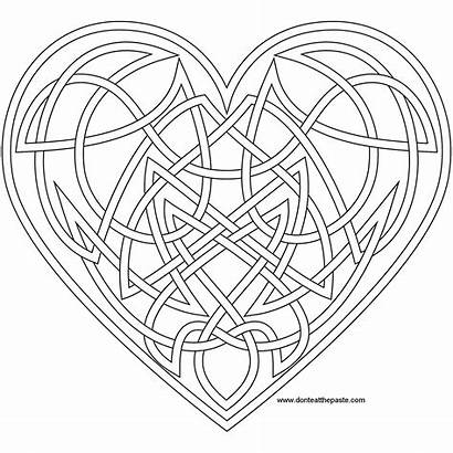 Coloring Pages Celtic Knot Printable Printablee Heart